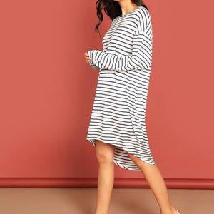 NWOT Striped Tshirt Dress